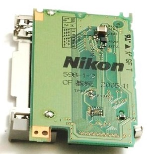 NIKON D200 CF MEMORY CARD RECEPTACLE SLOT UNIT