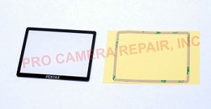PENTAX K-50 DSLR PLASTIC LCD WINDOW REPLACEMENT REPAIR PART INCLUDING ADHESIVE TAPE