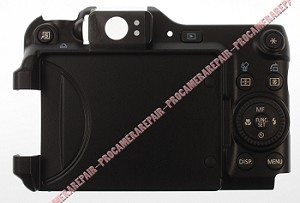 CANON POWERSHOT G11 DIGITAL CAMERA REAR COVER W/ MENU PCB FLEX HOUSING UNIT