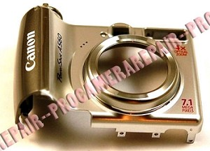 CANON POWERSHOT A560 SILVER FRONT COVER