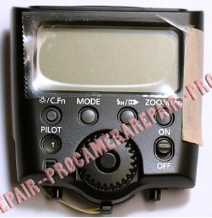 CANON 580EX SPEEDLITE FLASH MAIN CIRCUIT BOARD REAR COVER ASSEMBLY