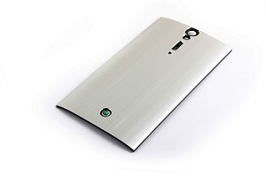SONY XPERIA S / LT26I / XPERIA ARC HD METAL BRUSHED STYLE REPLACEMENT BATTERY COVER FOR SONY XPERIA S / LT26I / XPERIA ARC HD, SILVER
