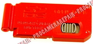 PANASONIC DMC-TZ7 BATTERY DOOR COVER CAP LID RED